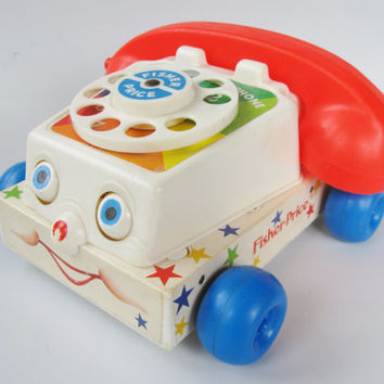Fisher Price 747 Chatter Telephone 1985 version