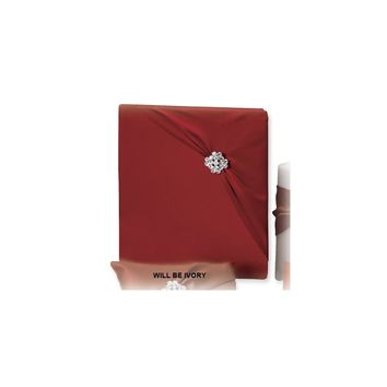 Ivory Garbo (holds 240 signatures, 3 ring binder) Memory Book