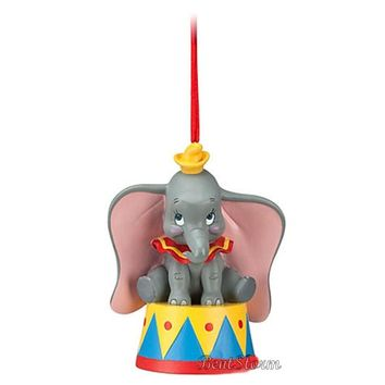 Licensed cool Disney Store Christmas DUMBO ELEPHANT BIG EARS CIRCUS Holiday Ornament 2012 NEW