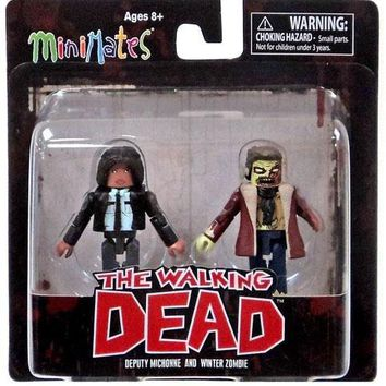 The Walking Dead Minimates Series 6 Deputy Michonne & Winter Zombie