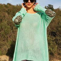 Sequin Patchwork Knit - Spring Knits at Pinkice.com