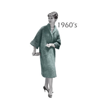 "Woman's Long Wrap Mohair Coat Knitting Pattern Size 12-16 ||Bust 32-36""/ 81-91cm