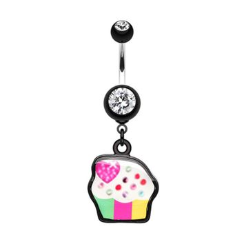 Sweet Tooth Cupcake Belly Button Ring