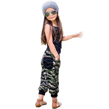 Toddler Girls Glitzy Camo Jogger 2pc. Outfit