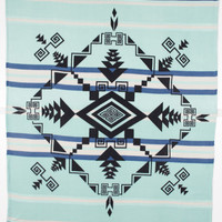 Polar Fleece God's Eye Blanket, Seafoam