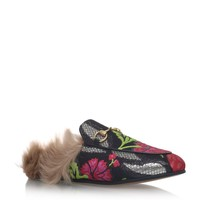 Gucci Princetown Fur Slippers | Harrods.com