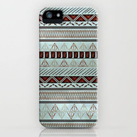 Harry Potter Tribal Print - Blue iPhone Case by Emily Blood