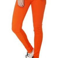 Judy Blue Orange Skinny Jeans | Hot Topic