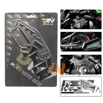 Motorcycle Carbon stickers Triple Tree Front End Upper Top Clamp Decal Pad stickers For Kawasaki Ninja 300R ZX250R ZX300R 13-15
