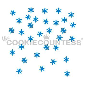 Falling Snowflakes Cake & Cookie Stencil