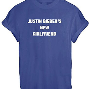 MRS JUSTIN BIEBER NEW GIRLFRIEND BELIEBER WOMEN UNISEX T SHIRT TOP TEE NEW - Blue