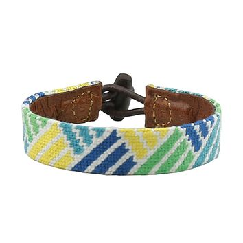 Vineyard Weave Needlepoint Bracelet by Smathers & Branson