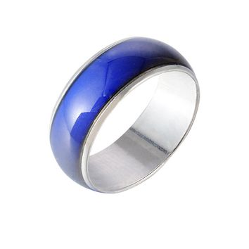 MJARTORIA Fashion  Mood Ring For Women Jewelry Gift Colors Change Ring With Your Emotion Temperature Feeling Ring 8mm