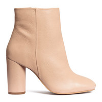 H&M Leather Ankle Boots $99