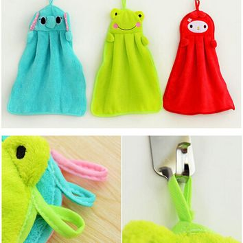 Fashion Cute Animal Microfiber Kids Children Cartoon Absorbent Hand Dry Towel Lovely Towel For Kitchen Bathroom Use