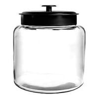 Anchor Hocking 1.5 gal Glass Montana Jar With Black Lid, Clear