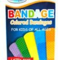 Latex-Free Kids and Adult Bandages/Bandaids- Multiple Colored 40 Count Full Size