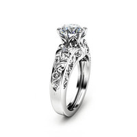 Special Reserved - Round Moissanite Engagement Ring - last payment