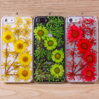 Daisy sun flower lace flower iPhone case Galaxy case 034