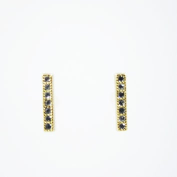 Gold Matchstick Earrings