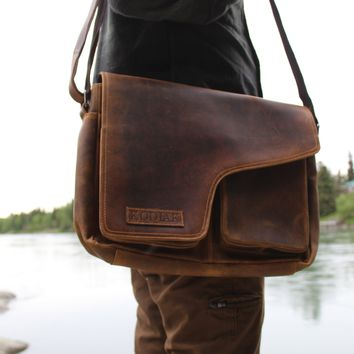 Handcrafted Buffalo Leather Messenger