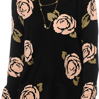 Lira Caterina Floral Crew Neck Sweater