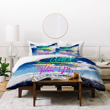 Leah Flores Aint No Mountain Duvet Cover