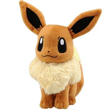 1 PC Pocket Monster Animation EEVEE Rare Soft Plush Toy Doll 20cm