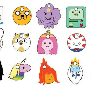15 Adventure Time Character Gift Tags - PDF File