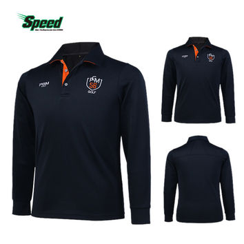 PGM Brand Mens Outdoor Fit Polomens Golf Polo Shirts Quick Dry Long Sleeve Golf T-shirts