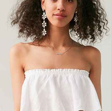 Faithfull The Brand Suns Out Strapless Cropped Top - Urban Outfitters