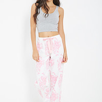 Rose Print PJ Flannel Pants