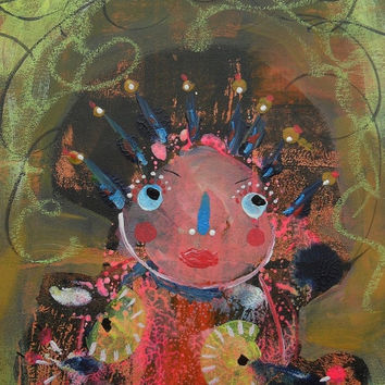 Weird Outsider Art Brut Raw Primitive Geeky Self Taught Artist Goth Fantasy Painting Grafitti Graffiti Ugly Pop SurrealismTribal Creepy