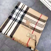 BURBERRY Popular Women Men Classic Plaid Cashmere Cape Scarf Scarves Shawl Accessories