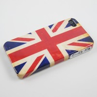 Vintage UK Great Britain Flag Hard Plastic Case for Iphone 4 & 4S