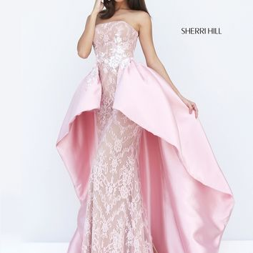 Sherri Hill 50842 Lace Column Formal Prom Dress