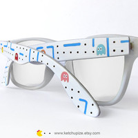 Ms.Pac-man Wayfarer glasses by Ketchupize