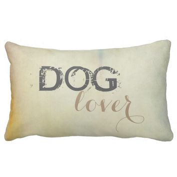 dog lover pillow text shabby chic design
