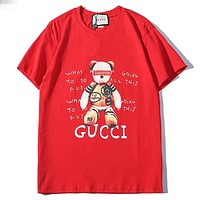 Trendsetter Gucci Women Man  Fashion Cotton  Short Sleeve Shirt Top Tee