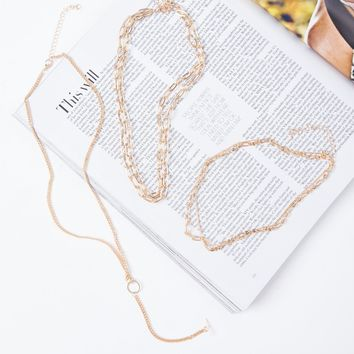Layered Chains Necklace Set