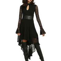 Royal Bones By Tripp Lace Keyhole Hi-Low Dress