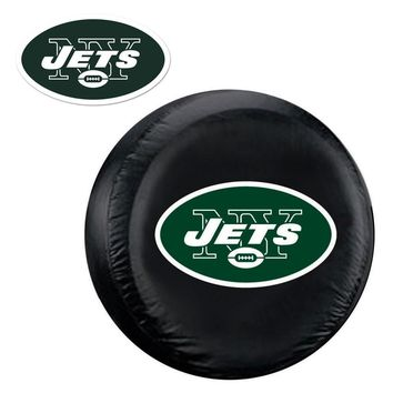 New York Jets NFL Spare Tire Cover and Grille Logo Set (Regular)