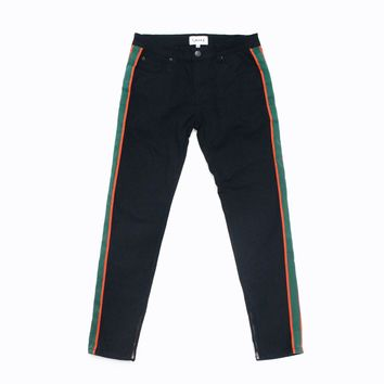 Aiden Stripe Pants (Black)