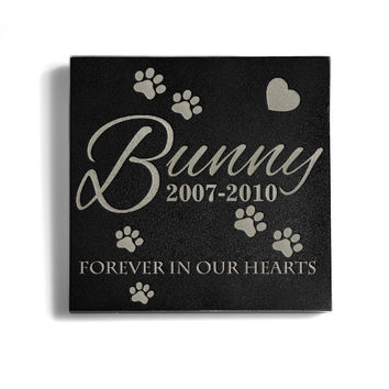 Customizable Little Paws Memorial Pet Stone