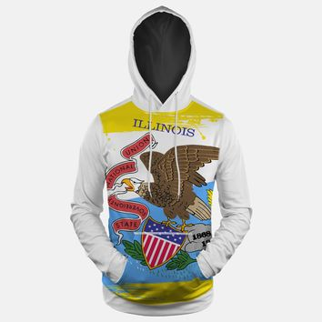 Illinois State Flag Hoodie (Ships in 2 Weeks)