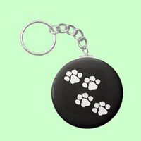 Animal Paw Prints Key Chains from Zazzle.com