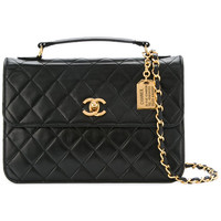 Chanel Vintage CC Logos 2way Chain Shoulder Hand Bag Leather - Farfetch