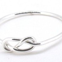 STERLING SILVER INFINITY WIRE KNOT RING SIZE 6
