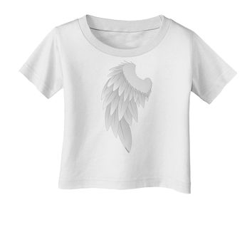 Single Left Angel Wing Design - Couples Infant T-Shirt