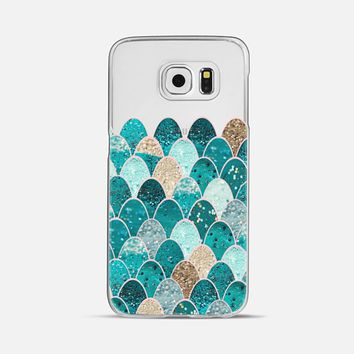 MERMAID SCALES iPhone6 transparent Galaxy S6 case by Monika Strigel | Casetify
